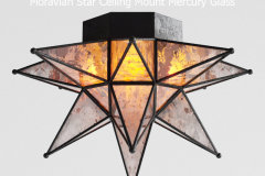 Rh moravian star ceiling mount mercury glass