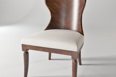 Hooker furniture dining room palisade wood back side chair