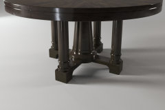 Bernhardt sutton house round dining table top and bas