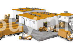 Warehouse with truck ar