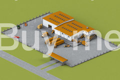 Warehouse with truck isometrik main